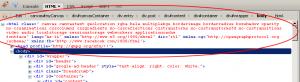 צילום מסך של firebug שמראה לנו את התכונות שנוספו ל-html באמצעות modernizr