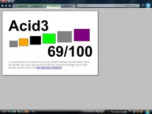 תוצאת אינטרנט אקספלורר 9 במבחן ACID3
