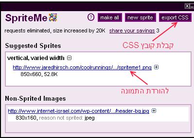 קבלת קובץ התמונה וה-CSS