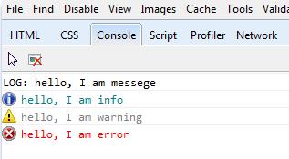 הערות בקונסולה בכלי המפתחים של אינטרנט אקספלורר 9