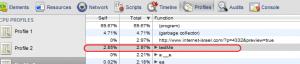 בדיקה של ביצועי פונקציה ב-Profiler