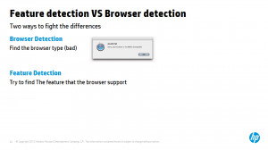 Feature detection VS browser detection