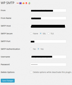 ממשק הניהול של התוסף הנוח להגדרה של SMTP