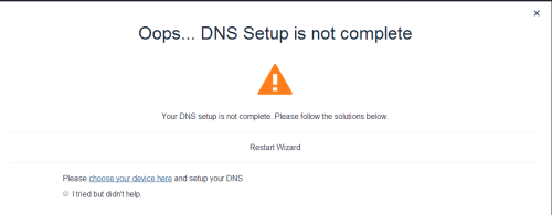 Unotelly DNS problem